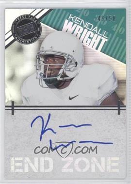 2012 Press Pass Showcase End Zone Autographs Silver #EZ-KW - Kendall Wright /50
