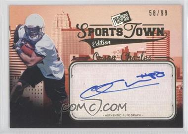 2012 Press Pass Sports Town Edition Autographs Gold #ST OC - Orson Charles /99