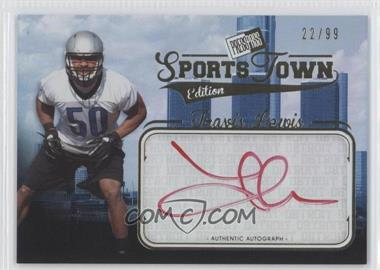 2012 Press Pass Sports Town Edition Autographs Gold #STTL - Travis Lewis /99