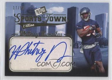 2012 Press Pass Sports Town Edition Autographs Gold #STWM - Whitney Mercilus /99