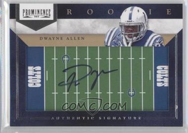 2012 Prominence - Rookie Signatures - Field Plates #247 - Dwayne Allen /200