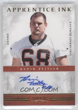 2012 Prominence Apprentice Ink #27 - Kevin Zeitler /99