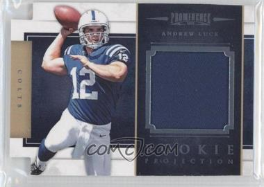 2012 Prominence Rookie Projection Materials Die-Cut Prime #24 - Andrew Luck /49