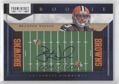2012 Prominence Rookie Signatures Field Plates #223 - Brandon Weeden /90