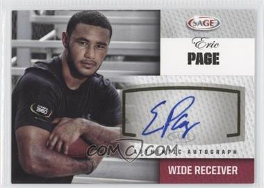 2012 SAGE [???] #A38 - Eric Page