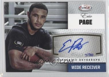 2012 SAGE Autographed Autographs Platinum #A38 - Eric Page /50