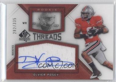 2012 SP Authentic - Rookie Threads #RT-DP - DeVier Posey /335