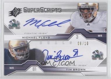 2012 SPx - Super Scripts Duals #SS2-12 - Michael Floyd, Tim Brown /10