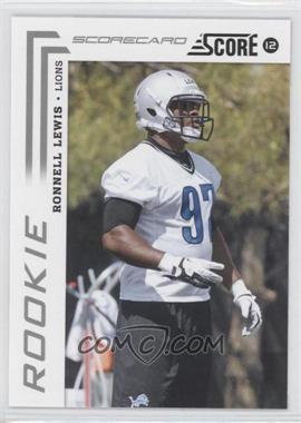 2012 Score Scorecard #370 - Ronnell Lewis