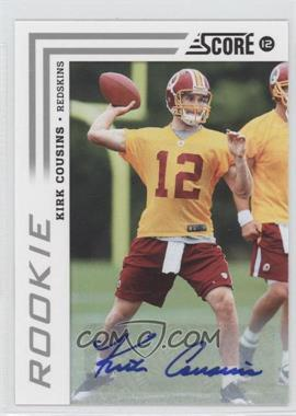 2012 Score Signatures [Autographed] #343 - Kirk Cousins