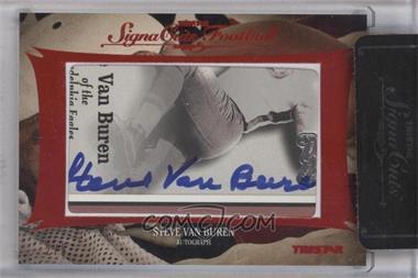 2012 TRISTAR SignaCuts Cut Signatures Red #STVA - Steve Van Buren /5