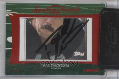 2012 TRISTAR SignaCuts Cut Signatures Red #TOCH - Todd Christensen /5