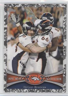 2012 Topps Camo Military #324 - Denver Broncos Team /399