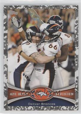 2012 Topps Camo Military #324 - Denver Broncos Team /399