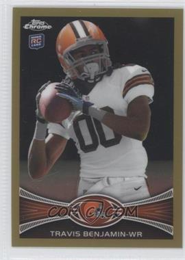 2012 Topps Chrome - [Base] - Gold Border Refractor #43 - Travis Benjamin /50