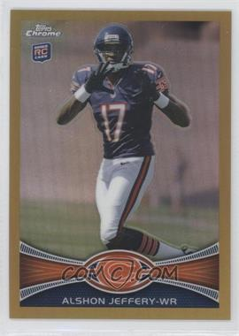 2012 Topps Chrome - [Base] - Gold Border Refractor #62 - Alshon Jeffery /50
