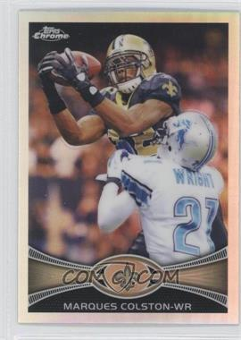 2012 Topps Chrome - [Base] - Refractor #19 - Marques Colston