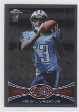 2012 Topps Chrome - [Base] #212.1 - Kendall Wright (Catching Football)