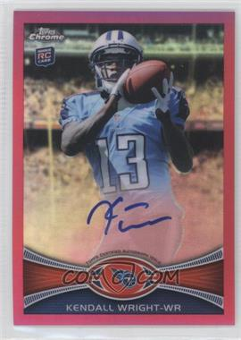 2012 Topps Chrome - Rookie Autographs - BCA Refractor [Autographed] #212 - Kendall Wright /75