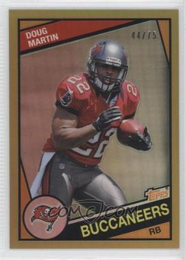2012 Topps Chrome 1984 Design Gold Refractor #22 - Doug Martin /75