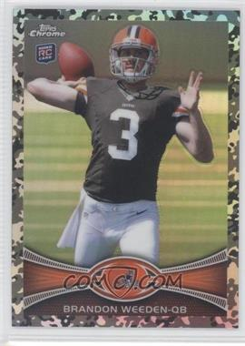 2012 Topps Chrome Military Refractors #79 - Brandon Weeden /499