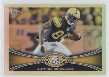 2012 Topps Chrome Refractor #106 - Antonio Brown