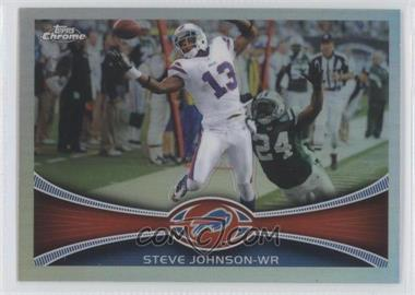 2012 Topps Chrome Refractor #74 - Steve Johnson