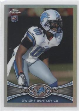 2012 Topps Chrome Refractor #90 - Dwight Bentley