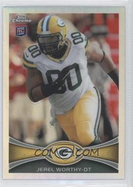 2012 Topps Chrome Refractor #93 - Jerel Worthy