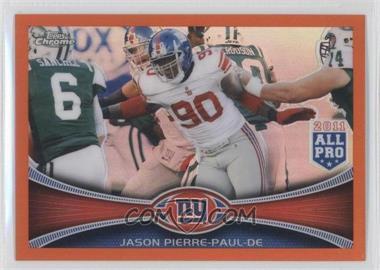 2012 Topps Chrome Retail Orange Refractor #76 - Jason Pierre-Paul