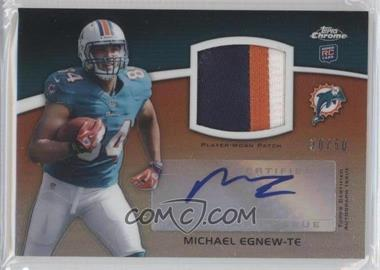 2012 Topps Chrome Rookie Autograph Patches [Autographed] #RAP-ME - Michael Egnew /50