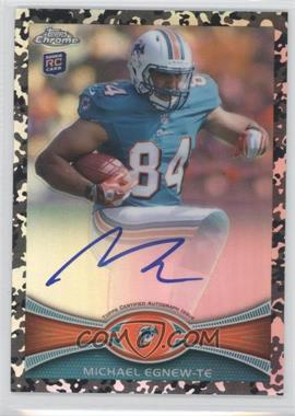 2012 Topps Chrome Rookie Autographs Military Refractor [Autographed] #2 - Michael Egnew /105