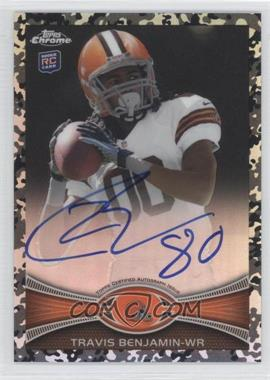 2012 Topps Chrome Rookie Autographs Military Refractor [Autographed] #43 - Travis Benjamin /105