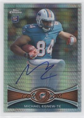 2012 Topps Chrome Rookie Autographs Prism Refractor [Autographed] #2 - Michael Egnew /50
