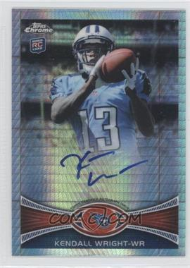 2012 Topps Chrome Rookie Autographs Prism Refractor [Autographed] #212 - Kendall Wright /50