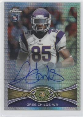 2012 Topps Chrome Rookie Autographs Prism Refractor [Autographed] #41 - Greg Childs /50