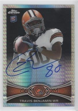2012 Topps Chrome Rookie Autographs Prism Refractor [Autographed] #43 - Travis Benjamin /50