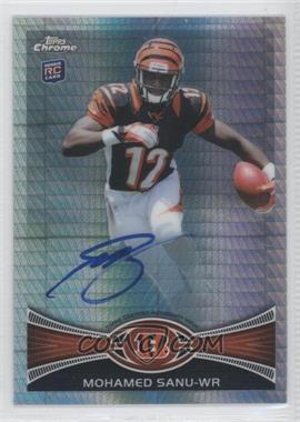 2012 Topps Chrome Rookie Autographs Prism Refractor [Autographed] #98 - Mohamed Sanu /50