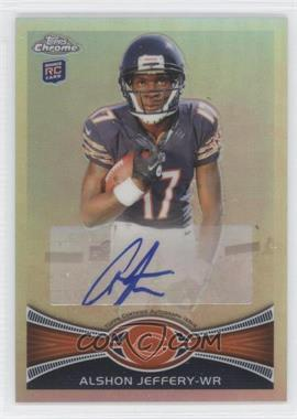 2012 Topps Chrome Rookie Autographs Refractor Variations [Autographed] #62 - Alshon Jeffery