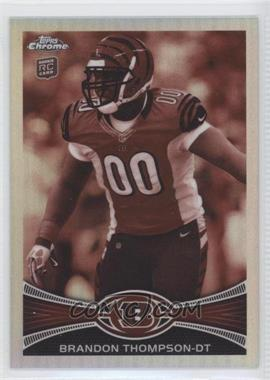 2012 Topps Chrome Sepia-Tone Refractor #143 - Brandon Thompson /99