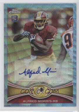 2012 Topps Chrome Wrapper Redemption Blue Wave Refractor Autograph [Autographed] #BWA-AM - Alfred Morris