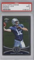Andrew Luck (Throwing Ball) [PSA 9]