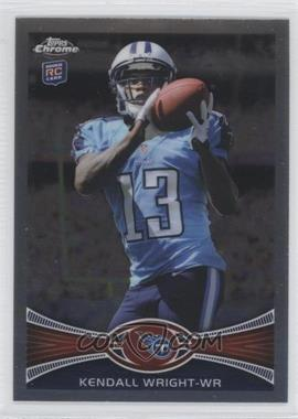 2012 Topps Chrome #212.1 - Kendall Wright (Catching Football)
