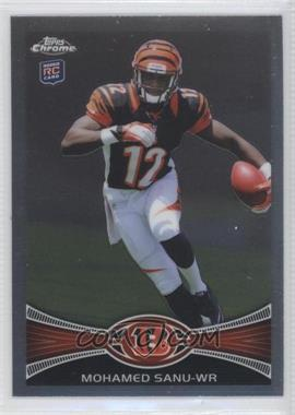 2012 Topps Chrome #98.1 - Mohamed Sanu (Helmet On - Running)