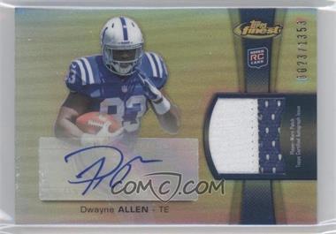 2012 Topps Finest - Rookie Autographed Patch - [Autographed] #RAP-DA - Dwayne Allen /1353