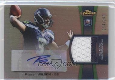 2012 Topps Finest - Rookie Autographed Patch - [Autographed] #RAP-RW - Russell Wilson /250