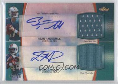 2012 Topps Finest Dual Autograph Dual Relic [Autographed] #DADR-TM - Ryan Tannehill, Lamar Miller /10