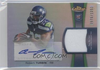 2012 Topps Finest Rookie Autographed Patch [Autographed] #RAP-RTU - Robert Turbin /1353