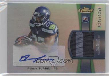 2012 Topps Finest Rookie Autographed Patch [Autographed] #RAP-RTU - Robert Turbin /1353