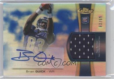 2012 Topps Finest Rookie Autographed Patch Blue Refractor [Autographed] #RAP-BQ - Brian Quick /99